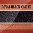 Stock Vector: Royal black caviar