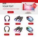 Shop website template design — Stock Vector