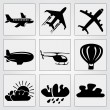 Travel icons set. Vector — Imagen vectorial