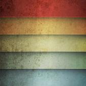 Sfondo vintage di linee orizzontali arcobaleno — Vettoriale Stock