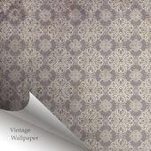 Katlanmış köşeye vektör duvar kağıdı tasarımı — Stok Vektör