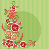 Greeting card with flowers. — Vector de stock