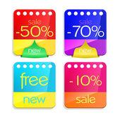 Sale percent sticker price tag — Stock Vector