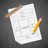 Icona layout sito — Vettoriale Stock