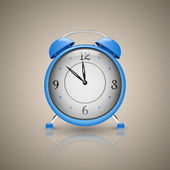 Alarm Clock. Classic alarm clock. Blue — Stock Vector