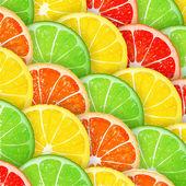 Citrus segments seamless background — Stock Vector