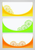Citrus background — Stock Vector