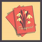 Passport cover — Stockvektor