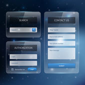 Web site design template navigation elements with icons set — 图库矢量图片