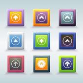 Web button with arrow icons — Stock Vector