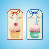 Cupcake labels — Cтоковый вектор