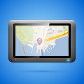 GPS navigation concept. Vector — Stock Vector