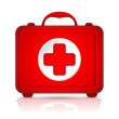 Red First Aid kit. Vector — Stockvektor