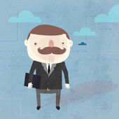 Background with businessman. — Stock vektor