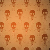 Background with skeletons. — Stock Vector
