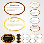 Set of oval-shaped web buttons. Vector — Stock Vector