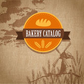 Vintage retro bäckerei-logo. vektor — Stockvektor