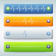 Background with different types of   Cardiogram - Grafika wektorowa