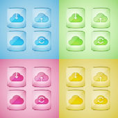 Set cloud icon — Stock Vector