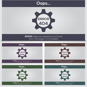 Set of vector 404 error icons for web — Stock Vector