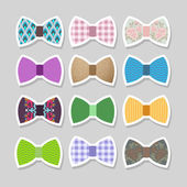 Cute set with bows. Vector illustration — Stock Vector