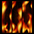 Abstract fire background — Stock Vector