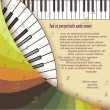 Musical background with piano keyboard — Stockvectorbeeld