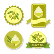 Icon of vector olive oil — Stock Vector