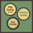 Premium Quality Labels — Stock Vector #23199788