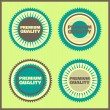Premium Quality Labels — Stock Vector #23199818