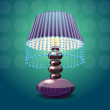 Vector de stock : Vector image of lamp shade