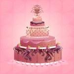 Strawberry Cake — Stock Vector