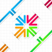 Arrow stickers — Stock Vector