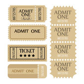 Ticket set. — Stock Vector