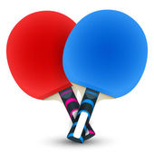 Two table tennis rackets — Vector de stock