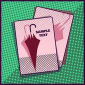 карточка с зонтом — Cтоковый вектор