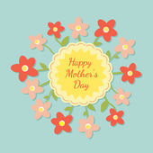 Happy mothers day card with flowers. — Stock Vector