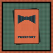 Passport cover. — Stock Vector
