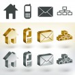 Vector communication icons — Stock Vector