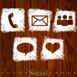 Vector social icons. — Stock Vector