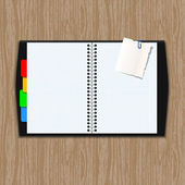 Vector Notepad paper — Stock Vector