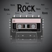 Rock vintage cassette — Stock Vector