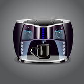 Koffiezetapparaat met kop — Stockvector