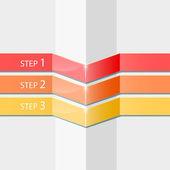 Vector progress steps — Stock Vector
