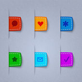 Vector textile web icons. — Stock Vector