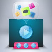 Media player icon — Vector de stock