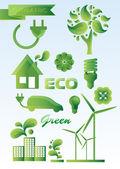Ecology icon set. — Stock Vector