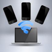 Vector set of Modern Digital devices — Stock Vector