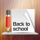 Back to school vector template — Stock Vector