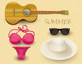 Vector summer set. — Stock Vector